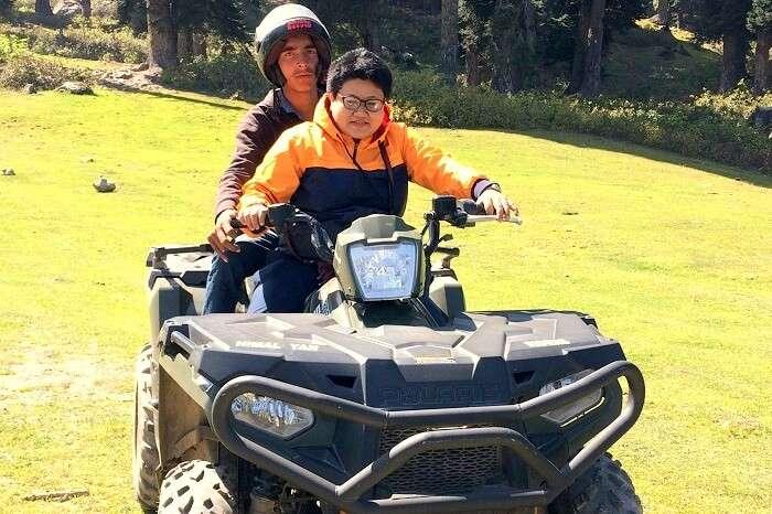 ATV riding in Gulmarg