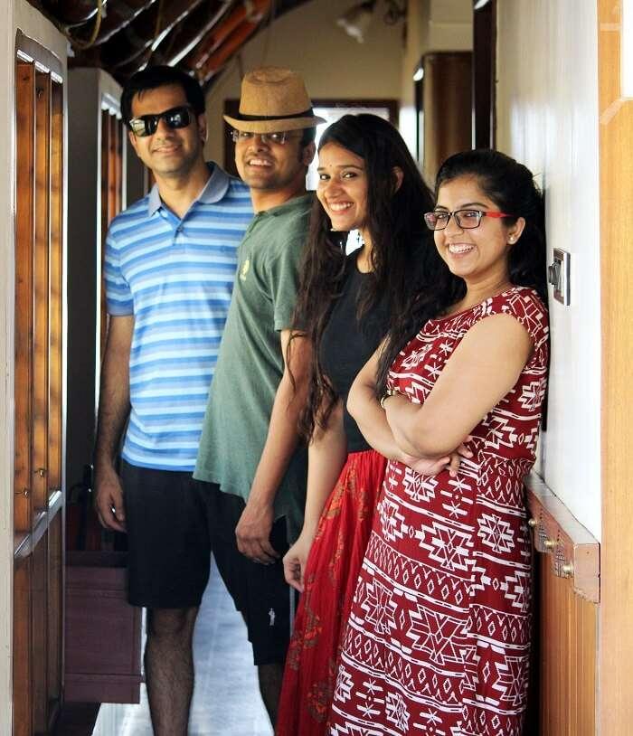 friends on a trip to kerala