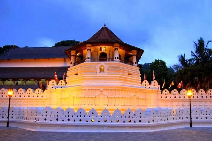 Pay your respects at the Temple of Tooth Relic in Sri Lanka