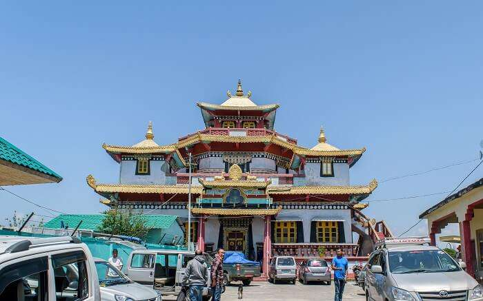 Phodang Monastery in Sikkim on a bright and beautiful day