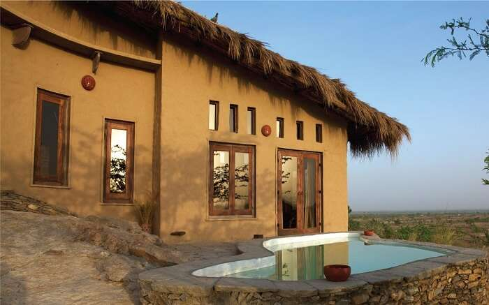 Private pool with cottage in Lakshman Sagar