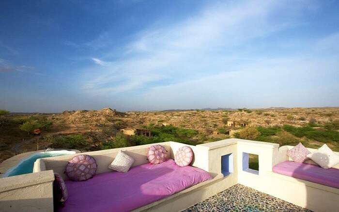 Terrace in Lakshman Sagar Resor