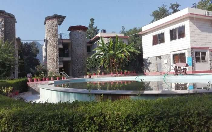 The buildings of Siyava Valley Resort in Mount Abu