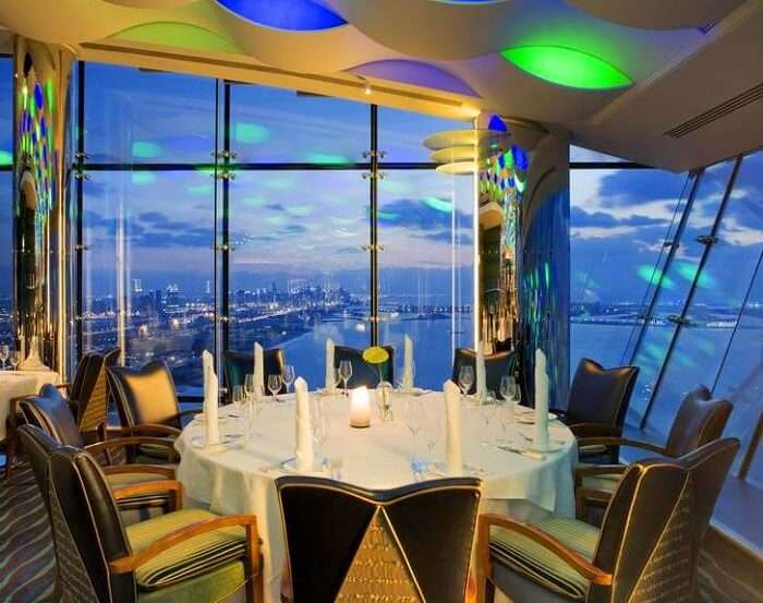 restaurant in burj al arab