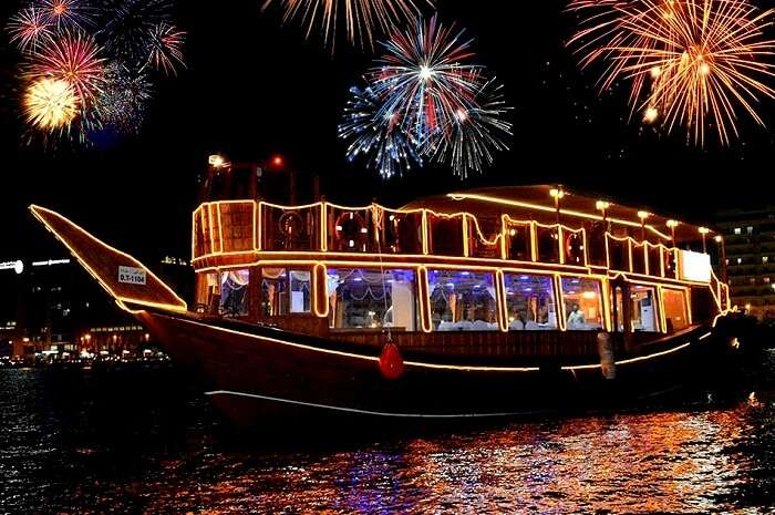 dhow cruise in new year dubai