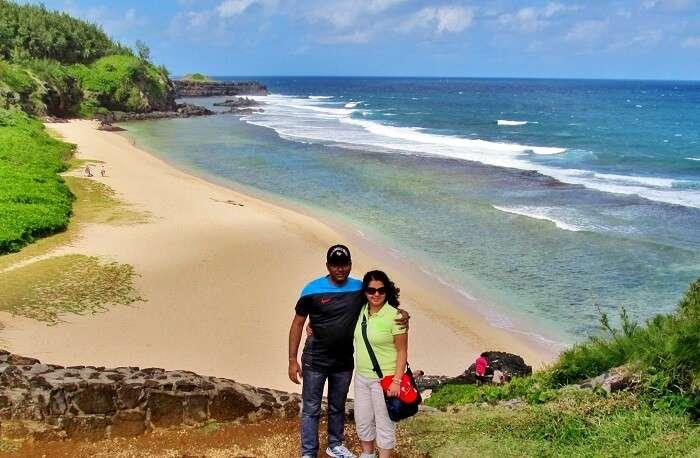 beach hopping on honeymoon