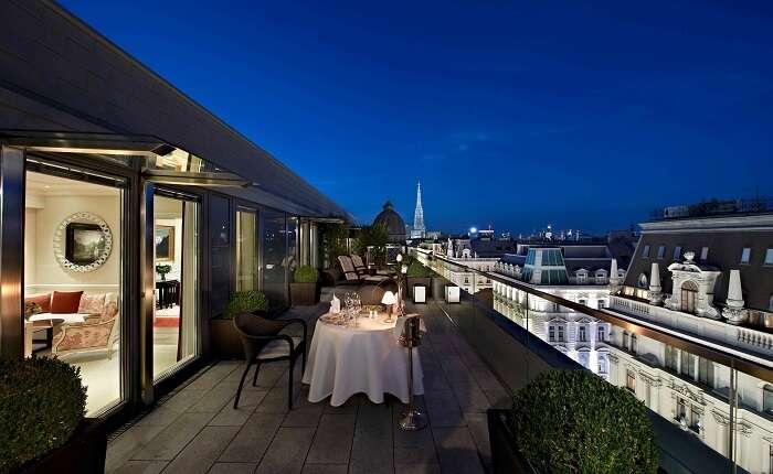 sacher wien rooftop restaurant