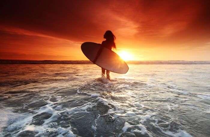 Surfing On Beach