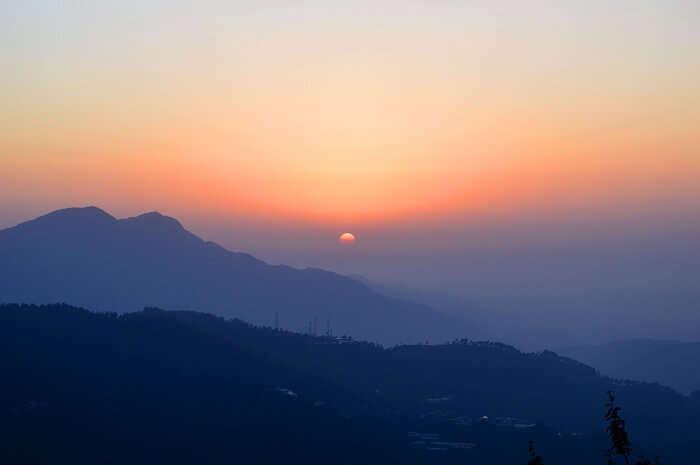 chail sunset himachal pradesh