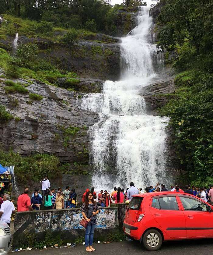 waterfalls in Munnar