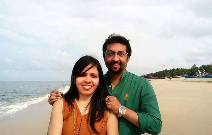 couple on romantic trip to Kerala