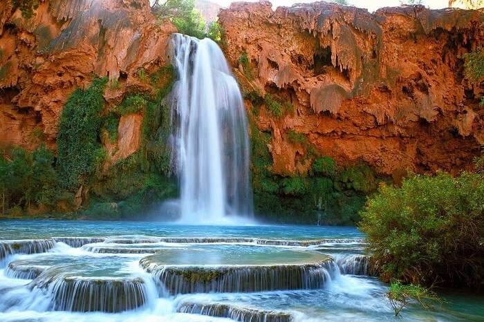 Waterfalls in Supai, Arizona