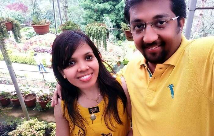 Couple at Munnar Gardens