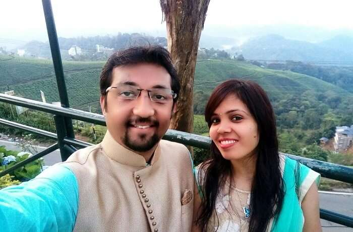 Couple on a trip to Kerala