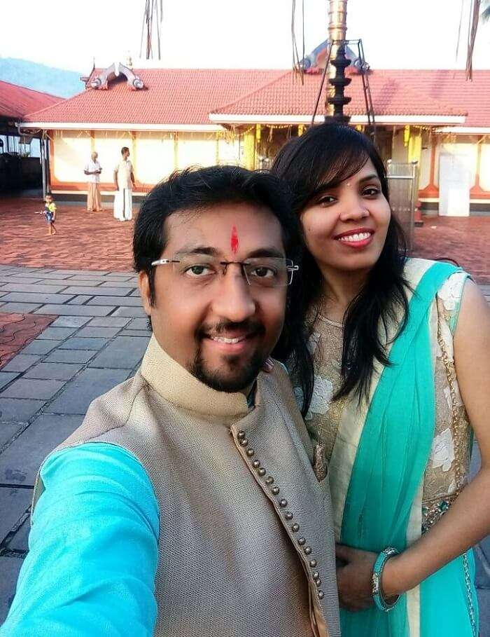 Couple at Shiva Temple