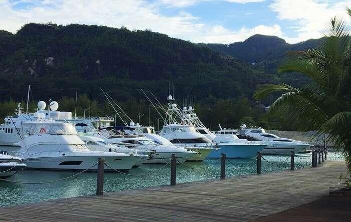 Ferries at Praslin Island, Seychelles