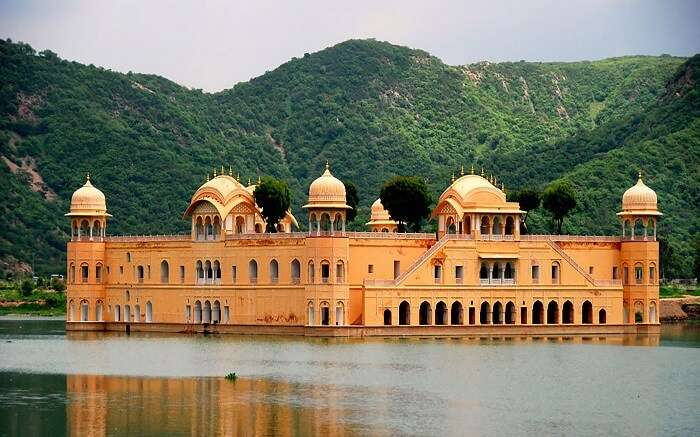 A view of Jal Mahal in Jaipur near Delhi