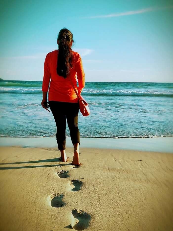 sandeep seychelles trip: walking on beach
