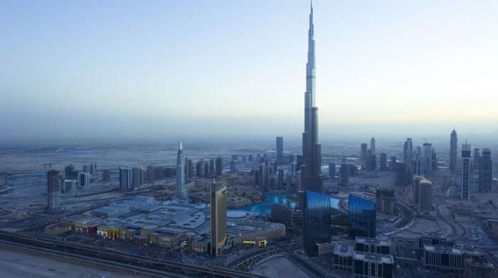 Burj Khalifa in twilight