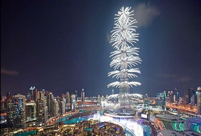 Fireworks in Burj Khalifa