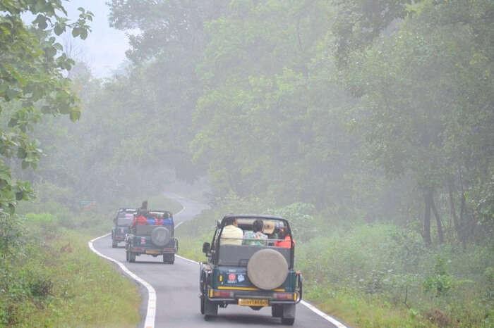safari jeep in corbett