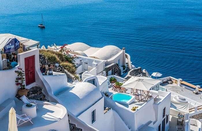 white paradise of Santorini, Greece