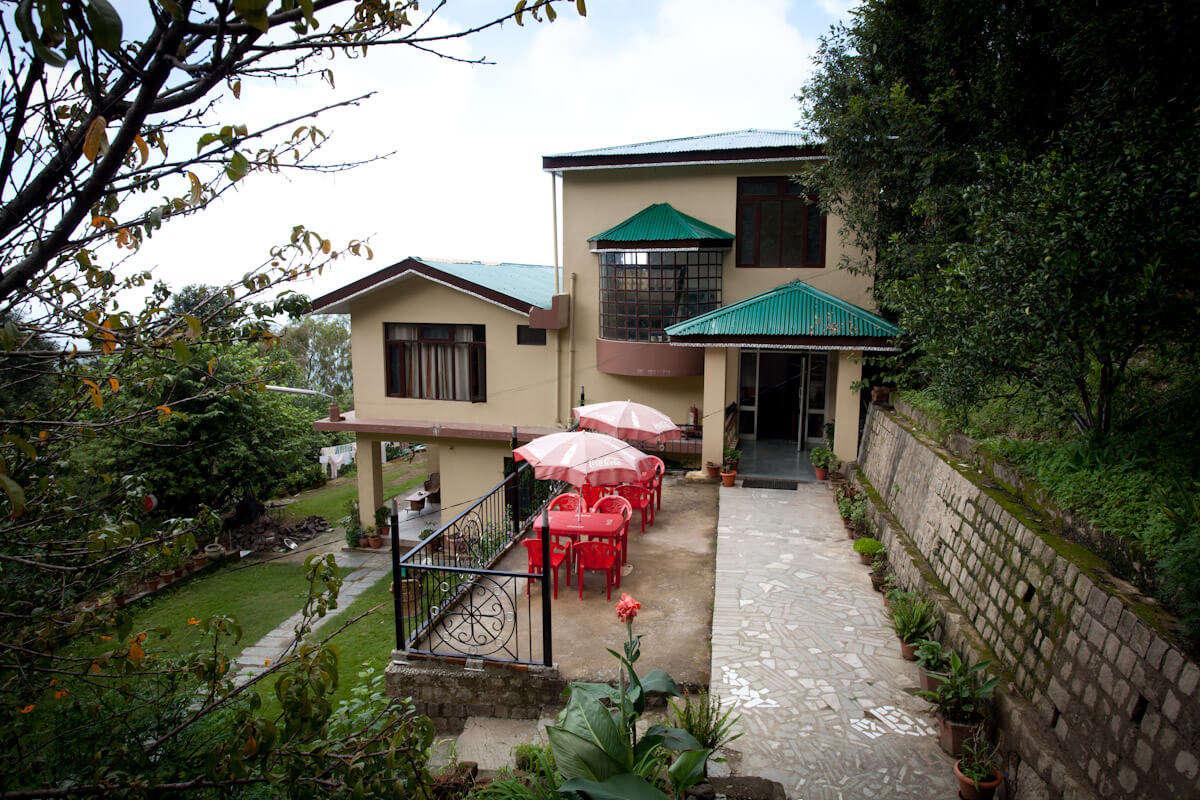 lawn of a hotel in Dharmshala