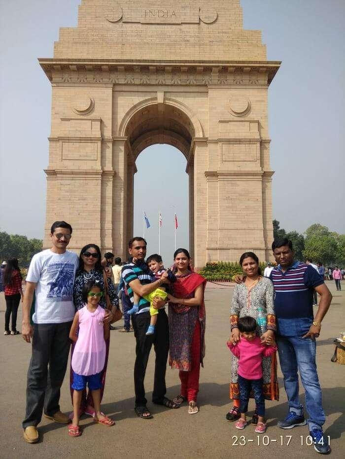 Shekhar's Family Near India Gate
