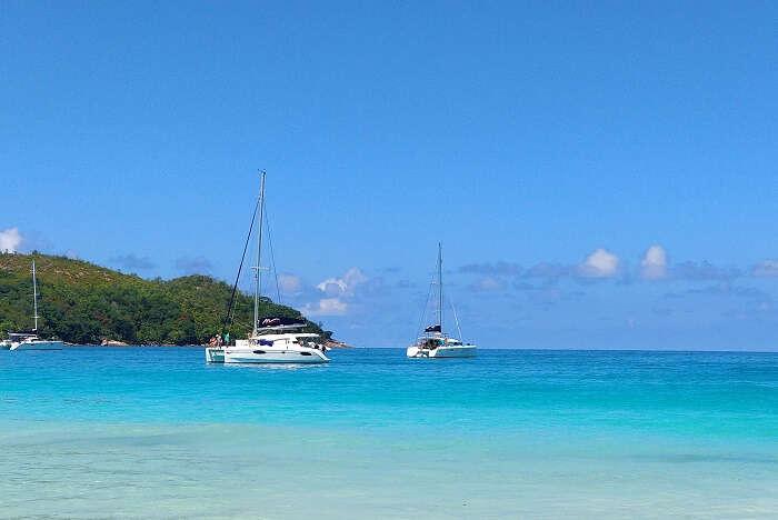 sandeep seychelles trip: boating in seychelles