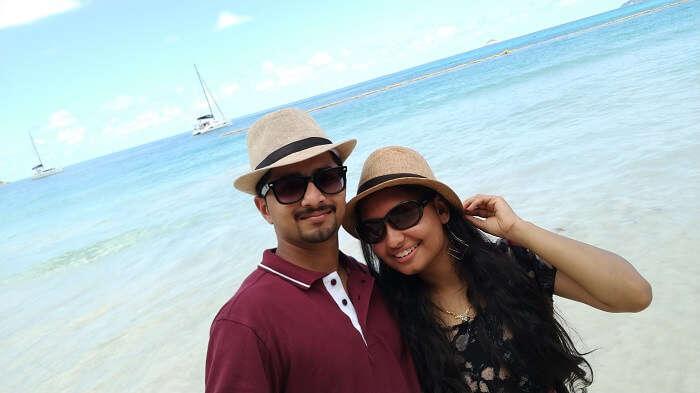 sandeep seychelles trip: sandeep and priya