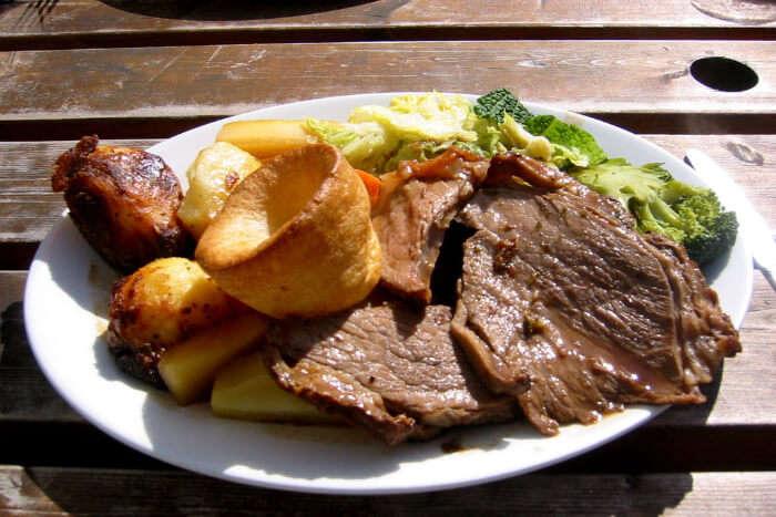 A British food item