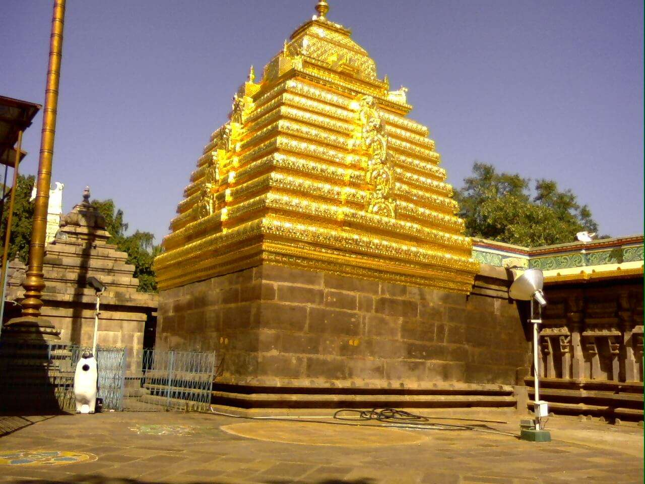 Mallikarjuna with golden arch