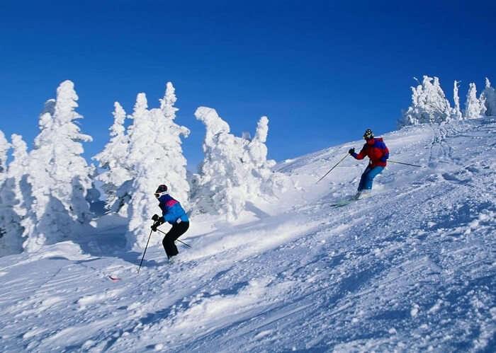 Mashobra skiing