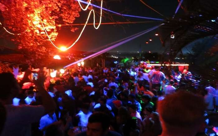 People partying at one of the clubs in Goa