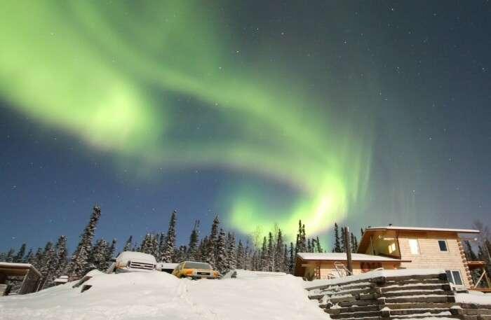 Polar Night in Alaska, USA