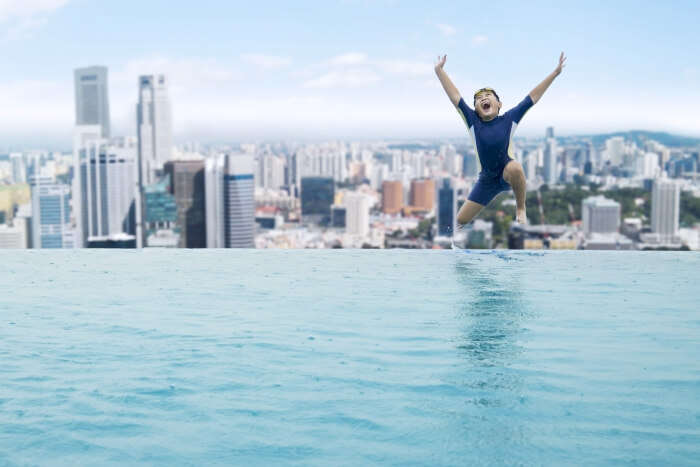 Infinity pool in Singapore