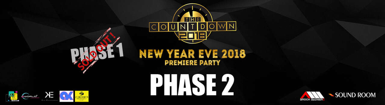 The Countdown NYE 18 at Le Royal Meridien