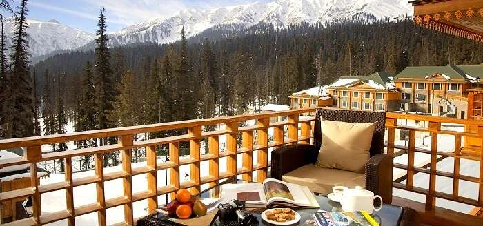 snow at The Khyber Himalayan Resort