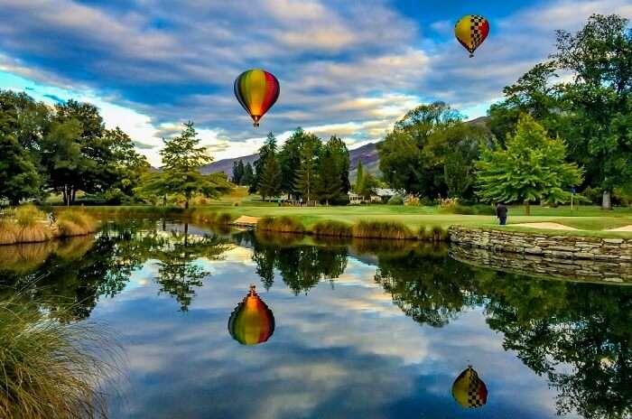hot air balloon proposal in queenstown