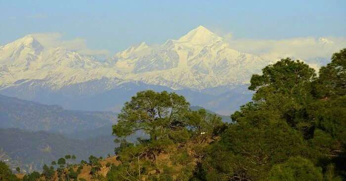 snow covered mountain of Kausani