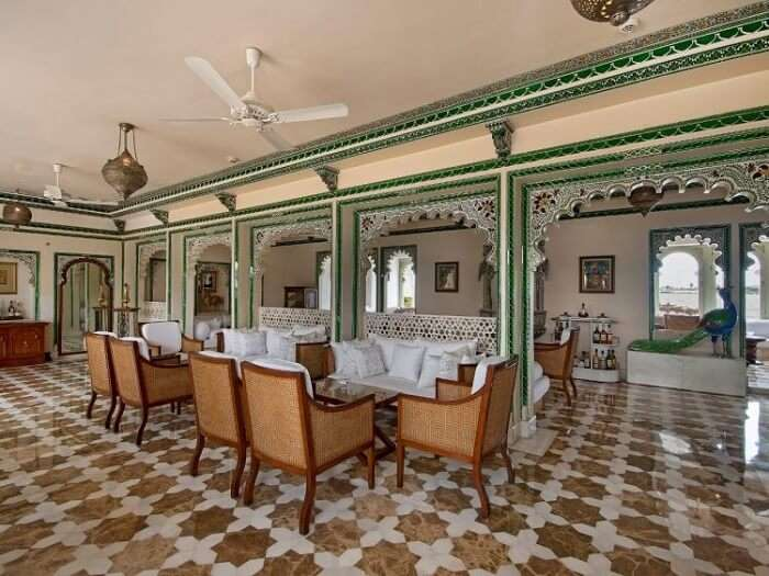 Amirt Sagar Bar at Taj Lake Palace