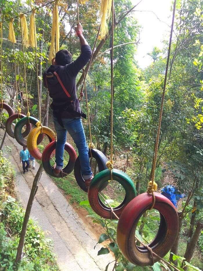 Traveler enjoys activities at Wonder Valley