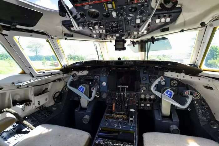 Cockpit of Jetstar in Wales, UK