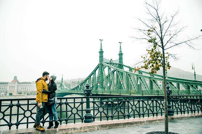 Couple In Budapest Hungary