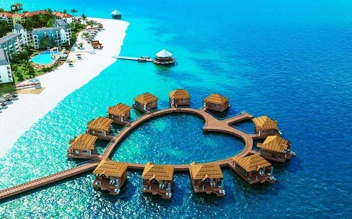 Stay At This Heart Shaped Sandals Resort In Jamaica