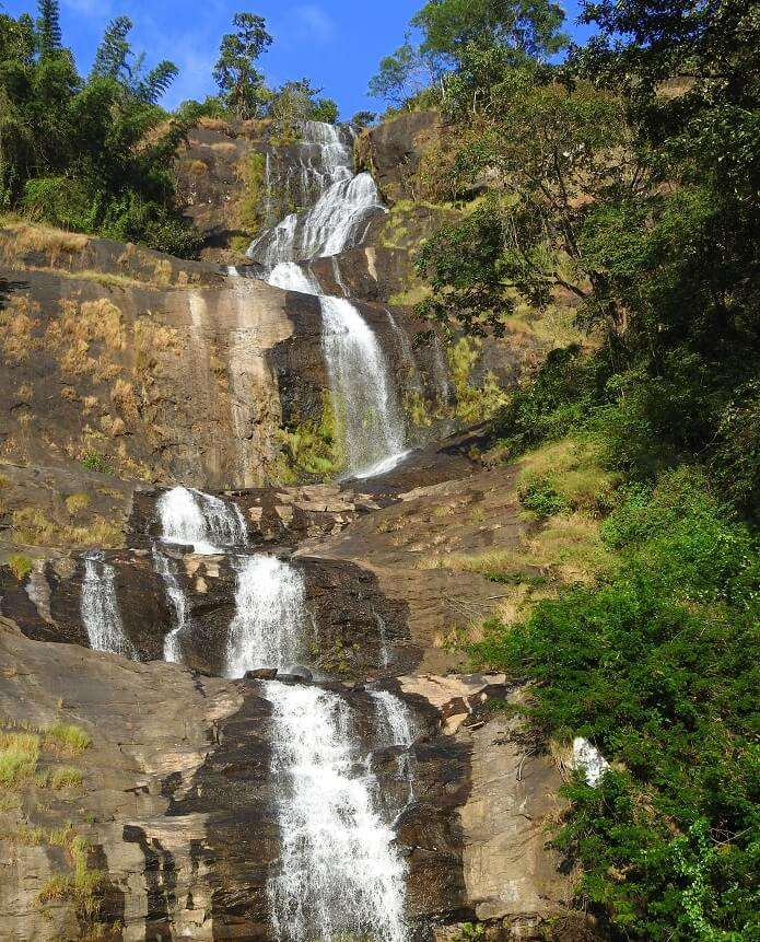 waterfall in munnar