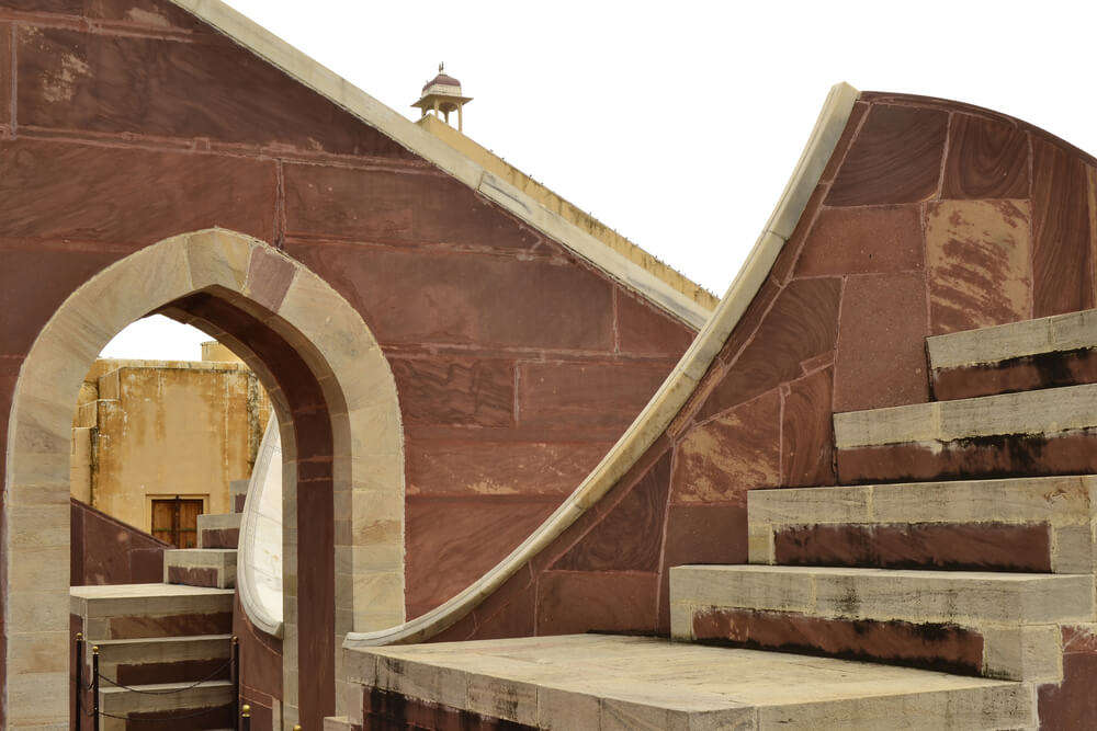 a beautiful staircase structure in jantar mantar