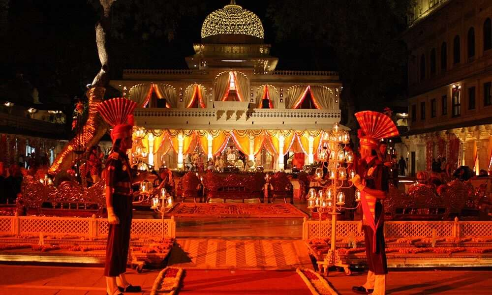 palace decorated beautifully in Udaipur