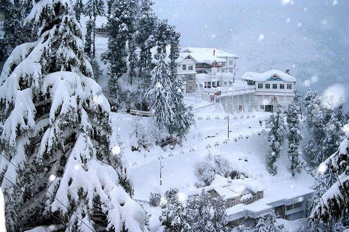 Snowfall In mashobra shimla