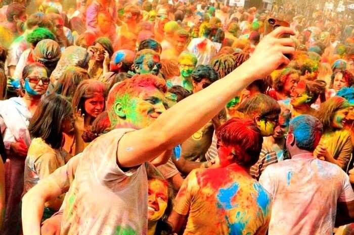 Holi festival in Delhi